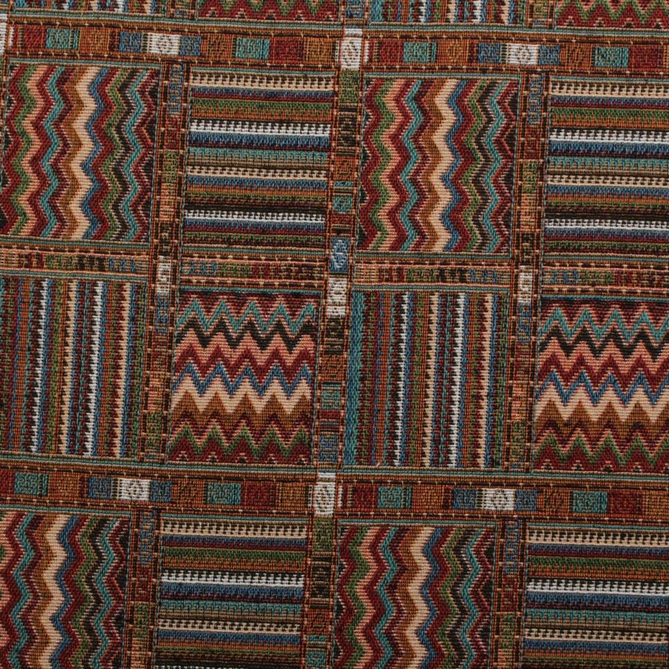 Aztec Patchwork Tapestry Curtain Upholstery Fabric