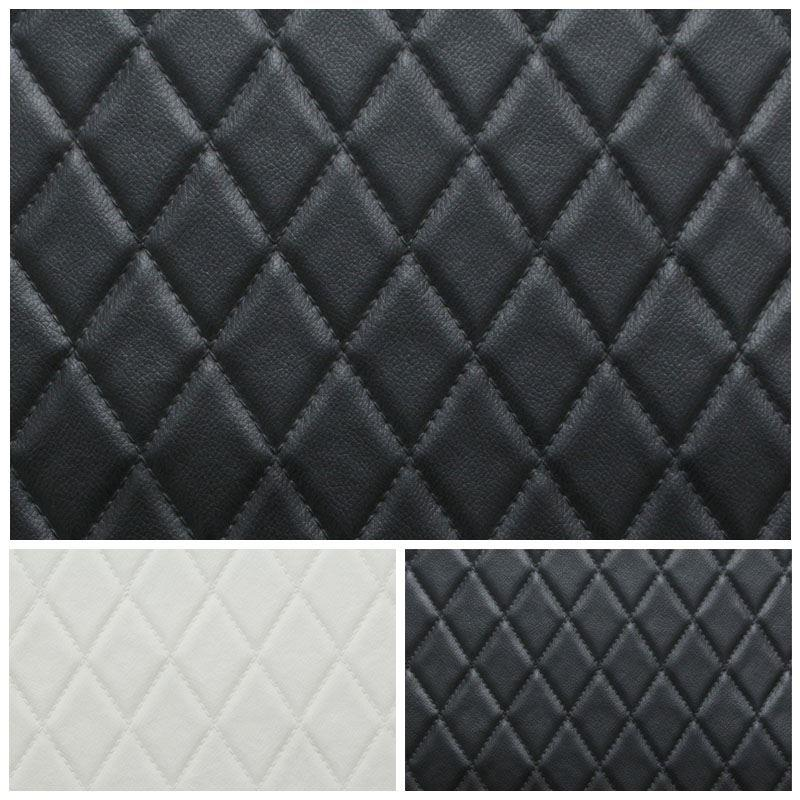 Faux Leather Diamond Stitch Embossed Padded Car Upholstery