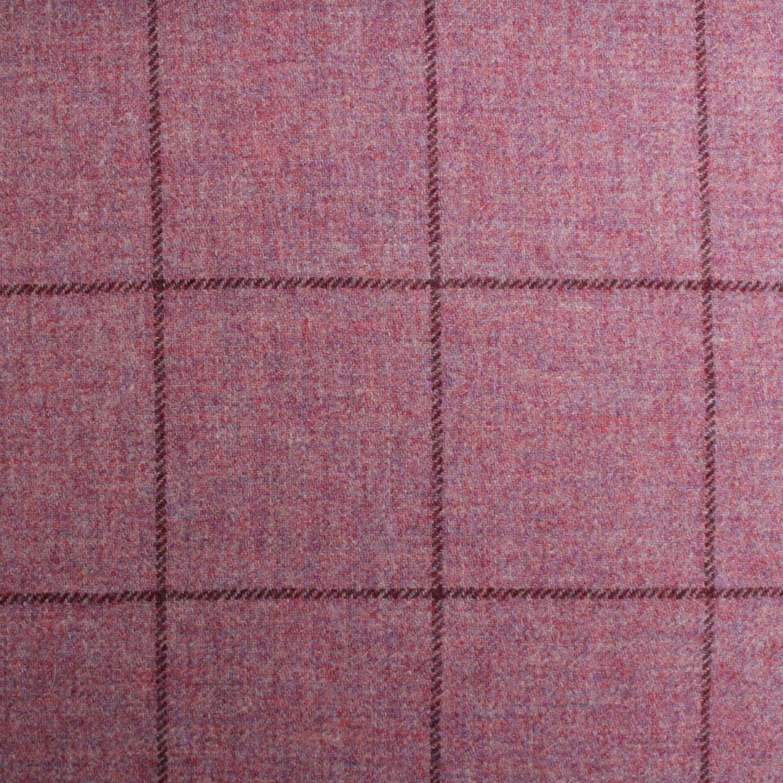 100 British Shetland Wool Fabric Dougarle Window Pane