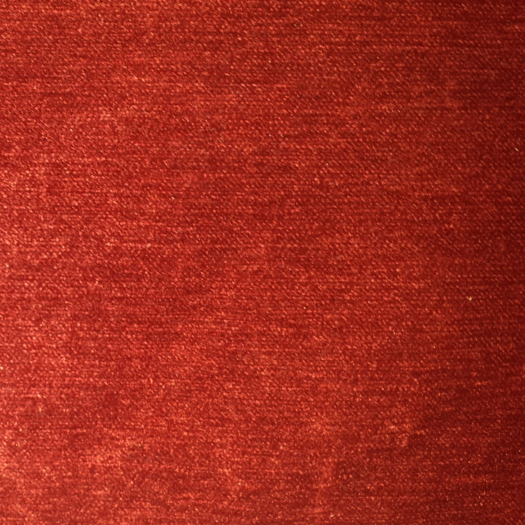 Red Velvet Texture Luxury Soft Plain Heavy Weight Cotton Crushed Pure Upholstery Fabric