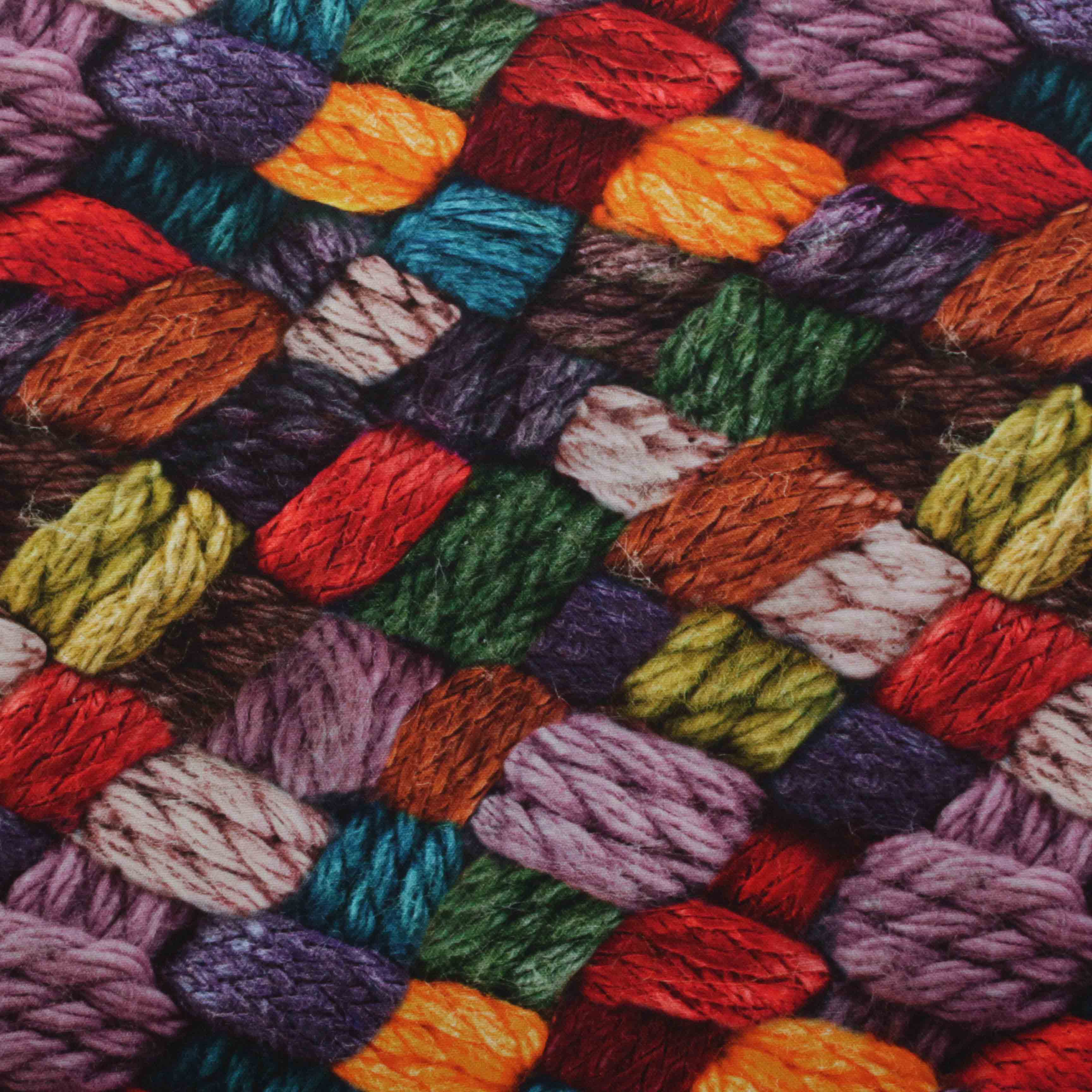 Toyota Of Orange >> Vintage Shabby Digital Print Knitting Wool Cotton Fabric