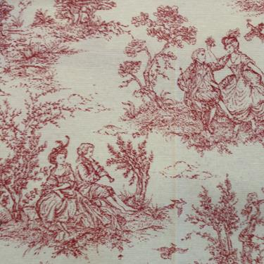 Toile De Jouy Vintange French Print 100 Cotton Fabric