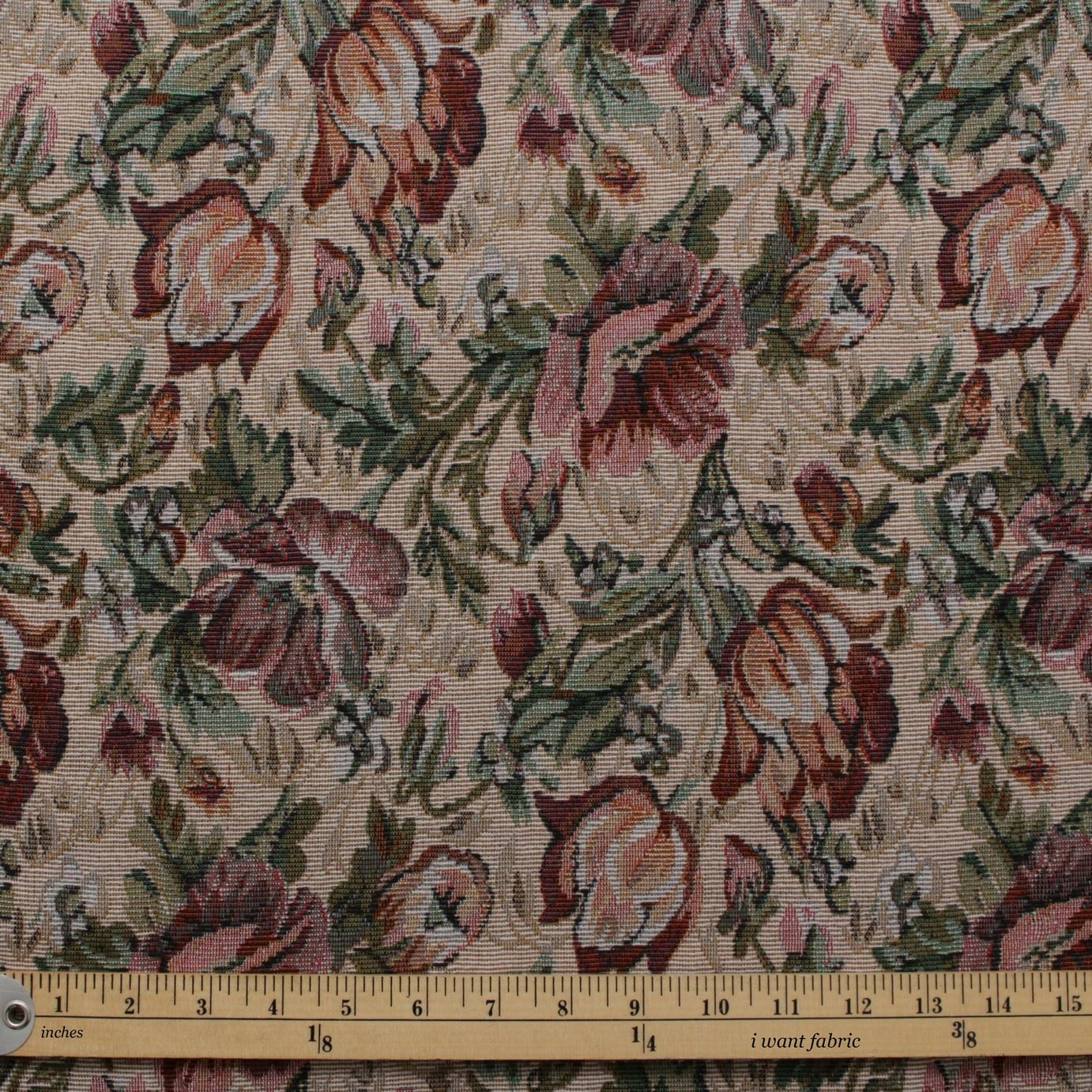Upholstery Sewing Machine >> English Floral Tapestry Traditional Fabric | I Want Fabric