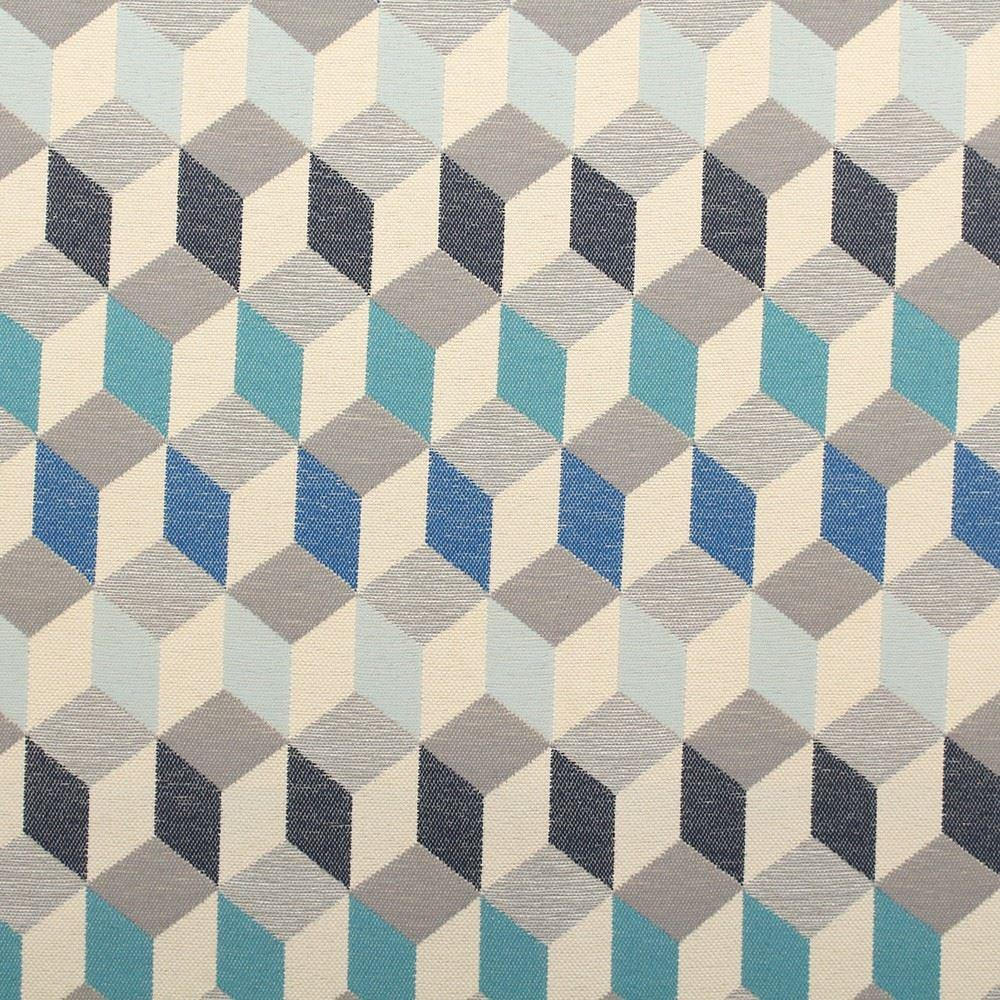 Next fabrics geometric 3d look cubes upholstery fabric for Fabric sites
