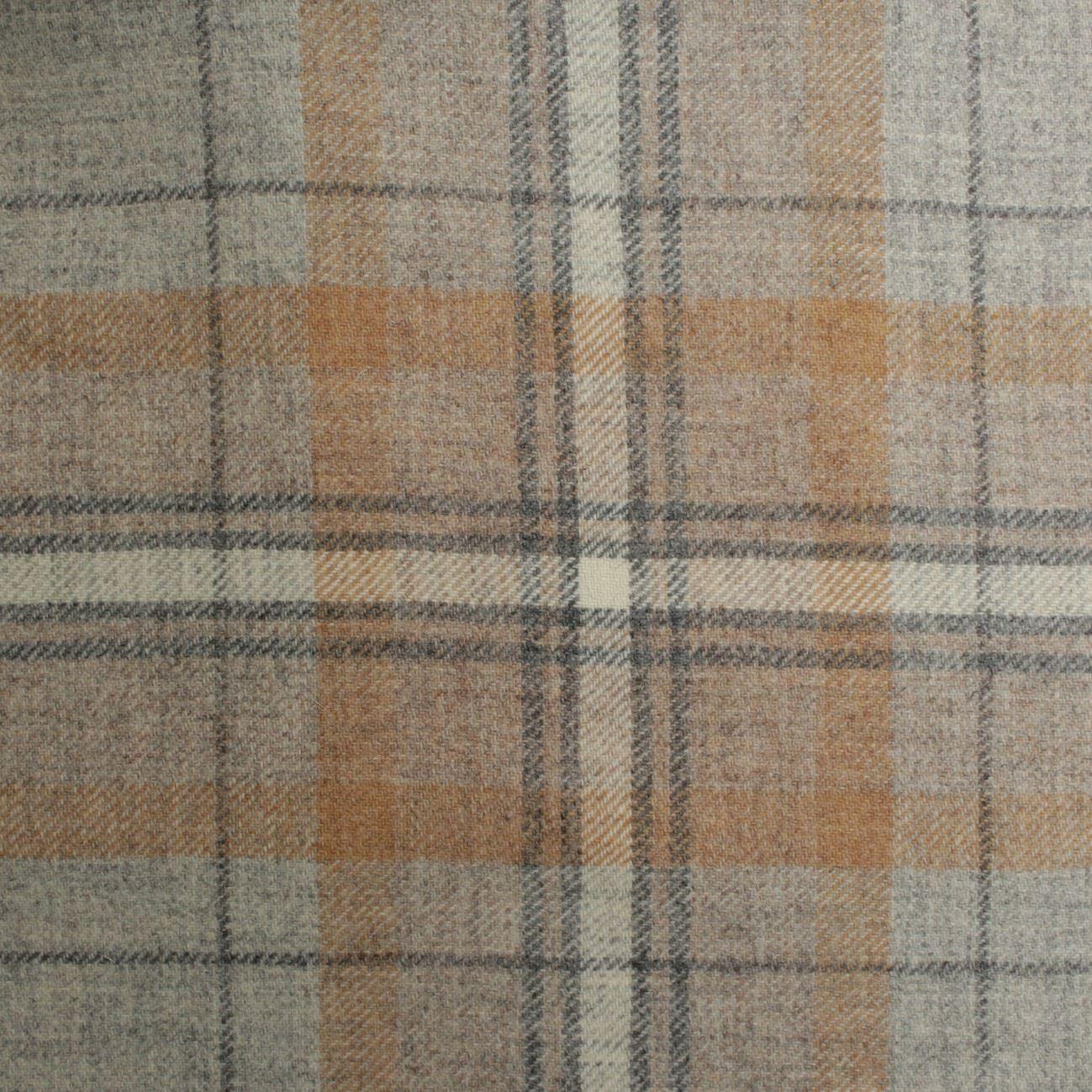 100 British Shetland Wool Fabric Torbeg Plaid I Want Fabric