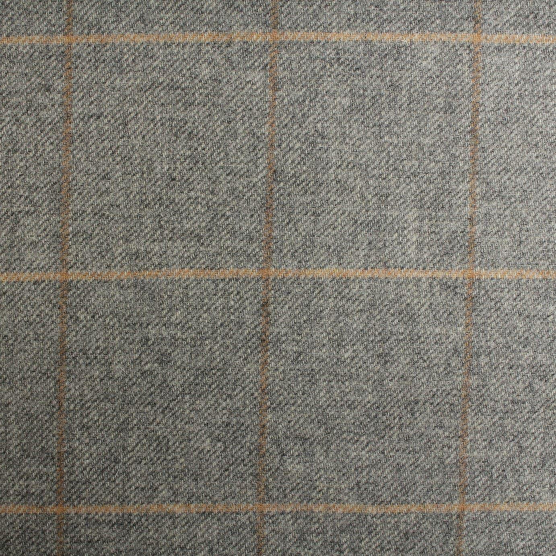 100 British Shetland Wool Fabric Kildonan Window Pane