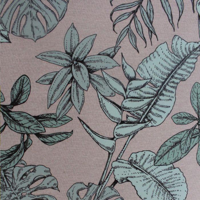 Myanmar Floral Velvet Upholstery Fabric Mint