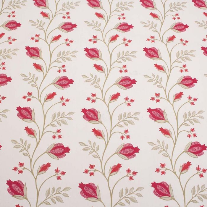 St Lucia 100 Cotton Floral Curtain Fabric 3 Colours
