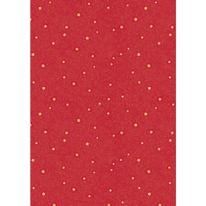 Lewis And Irene Fat Quarter Fairy Dust On Red (Metallic)
