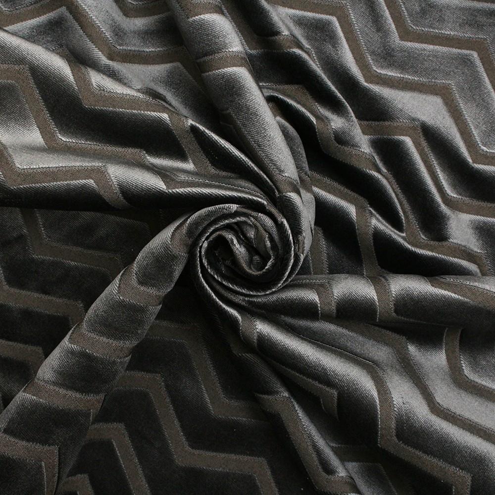 Metallic Look Stripe Velvet Upholstery Fabric