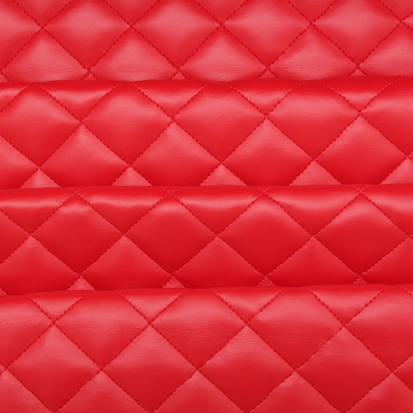 Leather cushion texture - Diamond Quilted Padded Faux Leather Fabric Red I Want