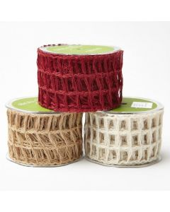 2.5 Inch Open Weave Burlap Net Ribbon