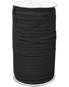 20mm Black Elastic - 100 metres
