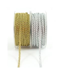 Metallic Chain Cord 1/4 Inch Ribbon