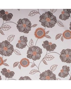 Cavendish Spring Floral Upholstery Fabric - Burnt Almond