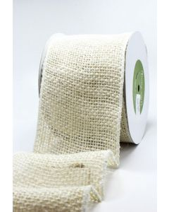 """Burlap Wired Wide Ribbon 4"""""""