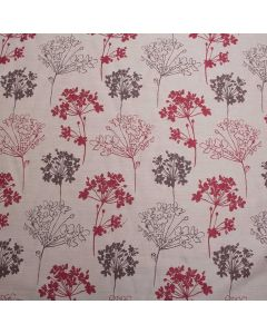 Tivoli Floral Jacquard Curtain Fabric - Red