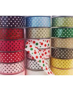 May Arts Polkadot Grossgrain Ribbon 38mm