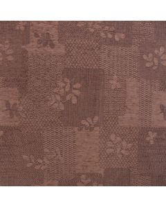 Rico Mocha Floral Patchwork Upholstery Fabric