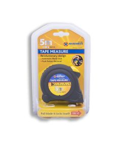 5 Metre Tape Measure Automatic Blade Lock Compact Durable Build
