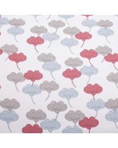 Portobello Floral Bright 100% Cotton Upholstery Fabric - Pimento
