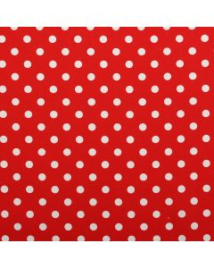 100% Cotton Red Printed Canvas Polkadot Light Upholstery Fabric