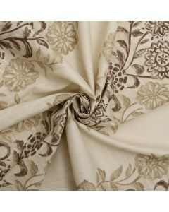 Harlequin Natural Brown Floral Sun Wide Stripe Plain Weave Curtain Cushion Upholstery Fabric