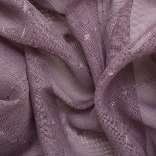 Square Check Embroidered Curtain Netting - Purple