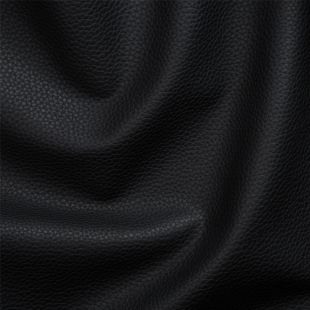 Nova Faux Leather Upholstery Fabric - Black
