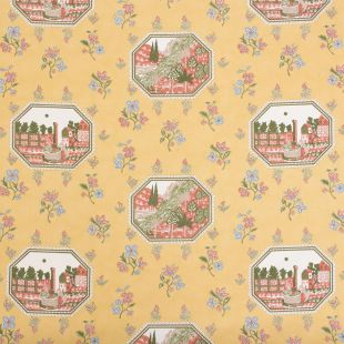 8m – The Design Archives Mandal Floral Vintage Upholstery Fabric