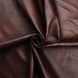 Dark Brown Soft Gloss Faux Leather Upholstery Fabric