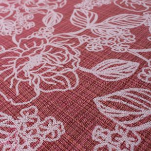 Lulu Floral Terracotta Upholstery Fabric