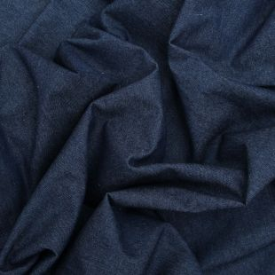 100% Cotton Denim Dressmaking Fabric - Washed 8oz Dark