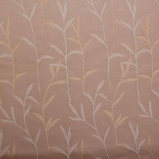 Golden Reeds Natural Floral Taffeta Curtain Cusion Upholstery Fabric 15.3 Metre Roll