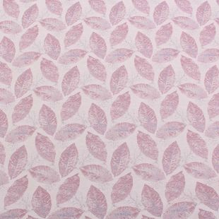 10.2m Sown In Leaves Lilac Upholstery Fabric