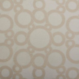 Roswell Self Print Geometric Circular Design Curtain Fabric For All Upholstery - Mint