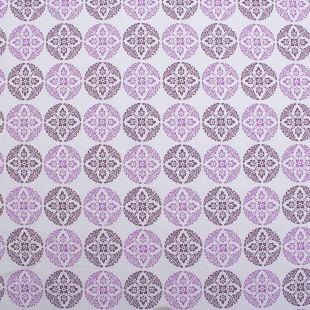 Snowflake 100% Cotton Floral Teaberry Furnishing Fabrics