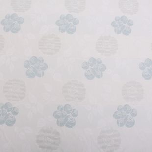 12m – Ivory Duck Egg Floral Upholstery Fabric