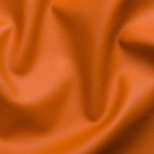 Evora Plain Faux Leather Fabric - Orange