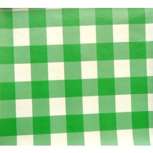 Large Gingham Check PVC Oilcloth Vinyl Tablecloth Fabric