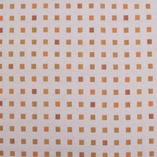 Clementine Orange Contemporary Squared Upholstery Fabric High Quality