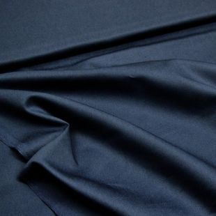 Plain Polyester Twill Fabric 50m Roll - Navy