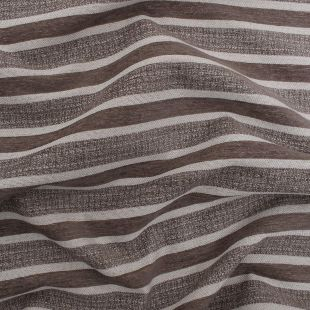 Concorde Natural Velvet Double Stripe Natural Upholstery Fabric