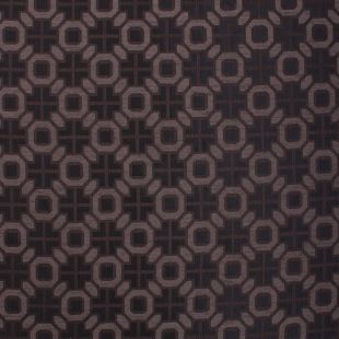 Chocolate Brown Geometric Tapestry Diamond Upholstery Fabric