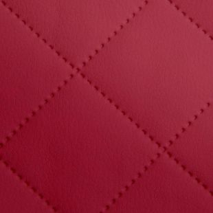 Quilted Faux Leather Fabric -  Single Diamond Medium