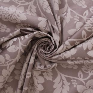 Ivory Floral Jacquard Chenille Upholstery Fabric