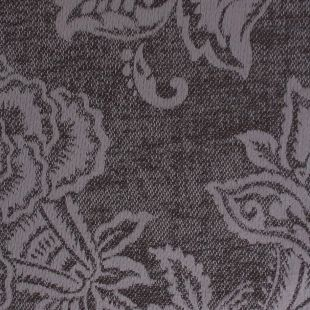 Malvern Silver Jacquard Floral Woven Upholstery Fabric