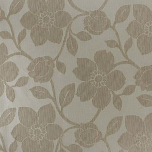 Orlena Large Floral Jacquard Gold Furnishing Fabric