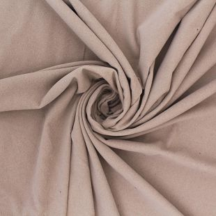 Conia Plain Faux Suede Velour Beige Upholstery Fabric