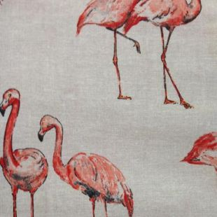 Country Side Animals Digital Print 100% Cotton Fabric - Flamengos